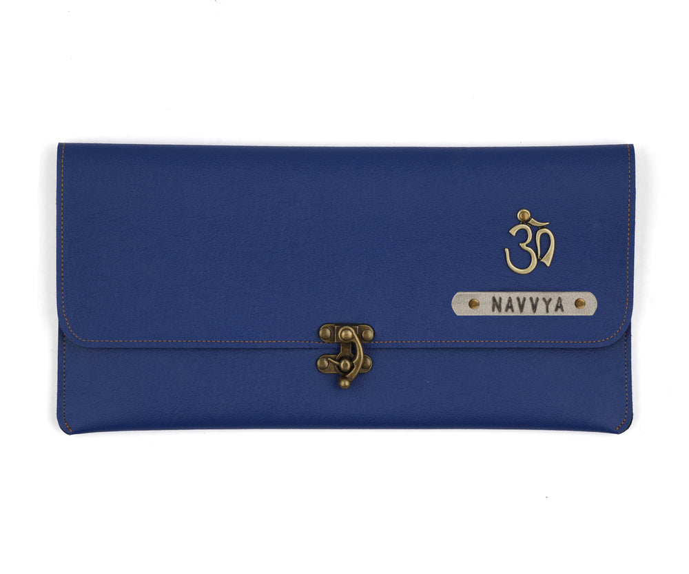 Navy Blue Clutch Bag - The Junket