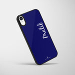 Personalized Glass Mobile Cover - Cursive