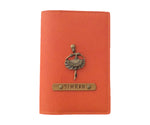 Orange Leather Finish Passport Cover - The Junket