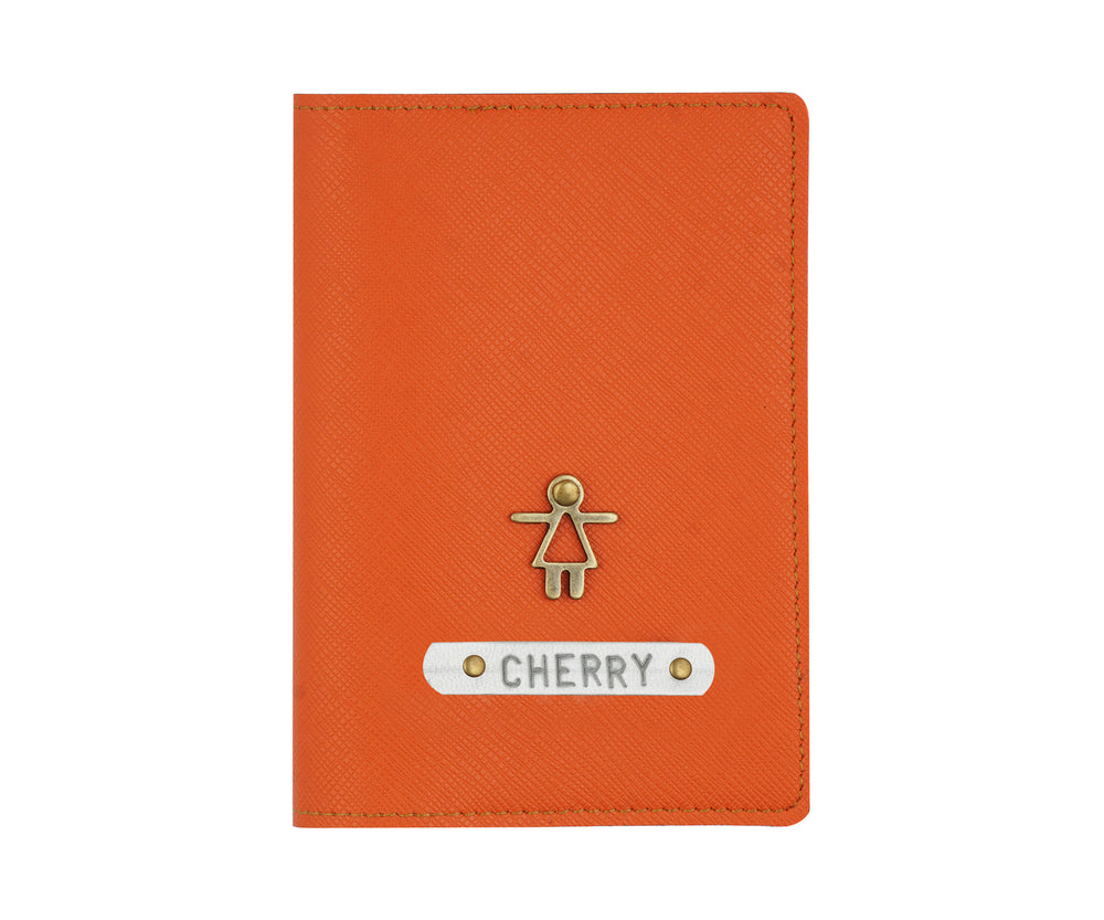 Orange Textured Passport Cover