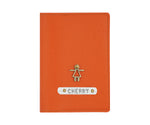 Orange Textured Passport Cover - The Junket
