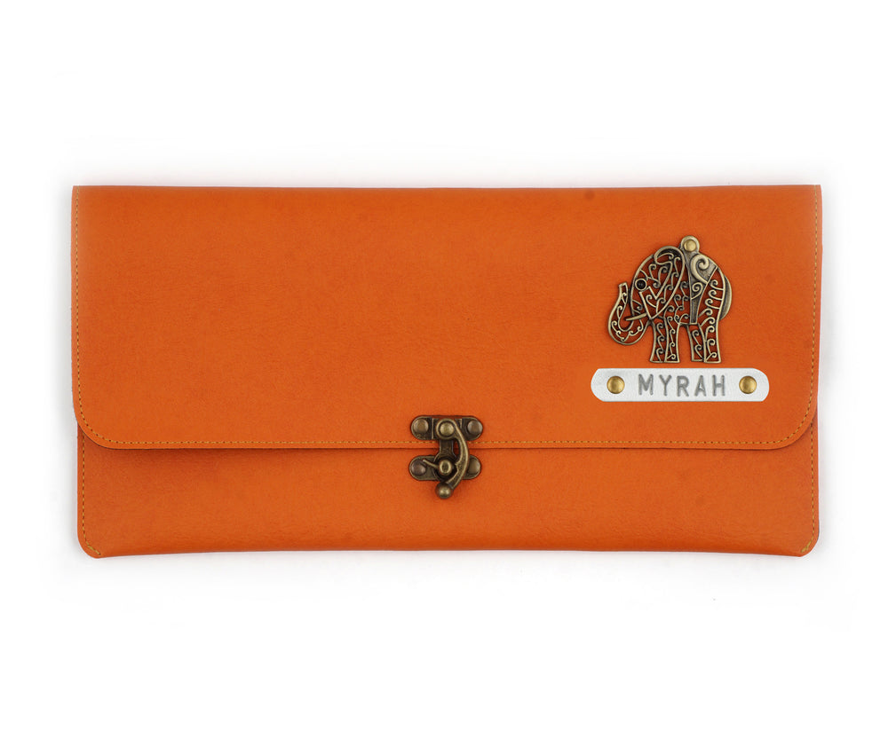 Orange Clutch Bag