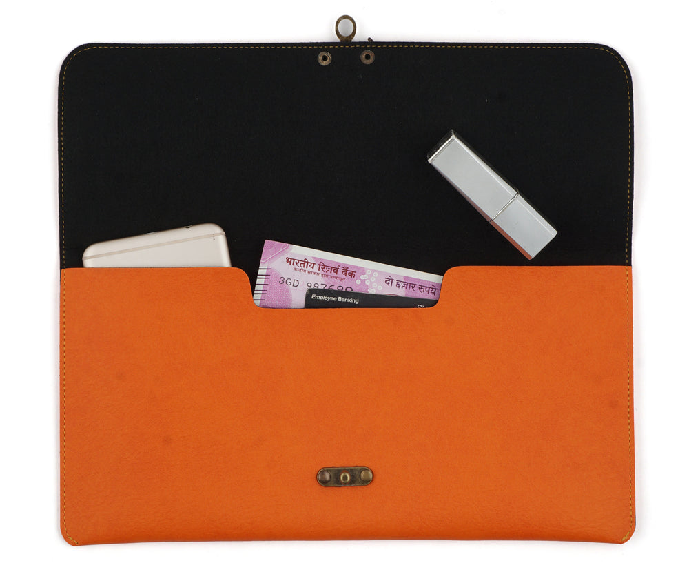 Orange Clutch Bag - The Junket