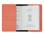 Peach Leather Finish Passport Cover - The Junket
