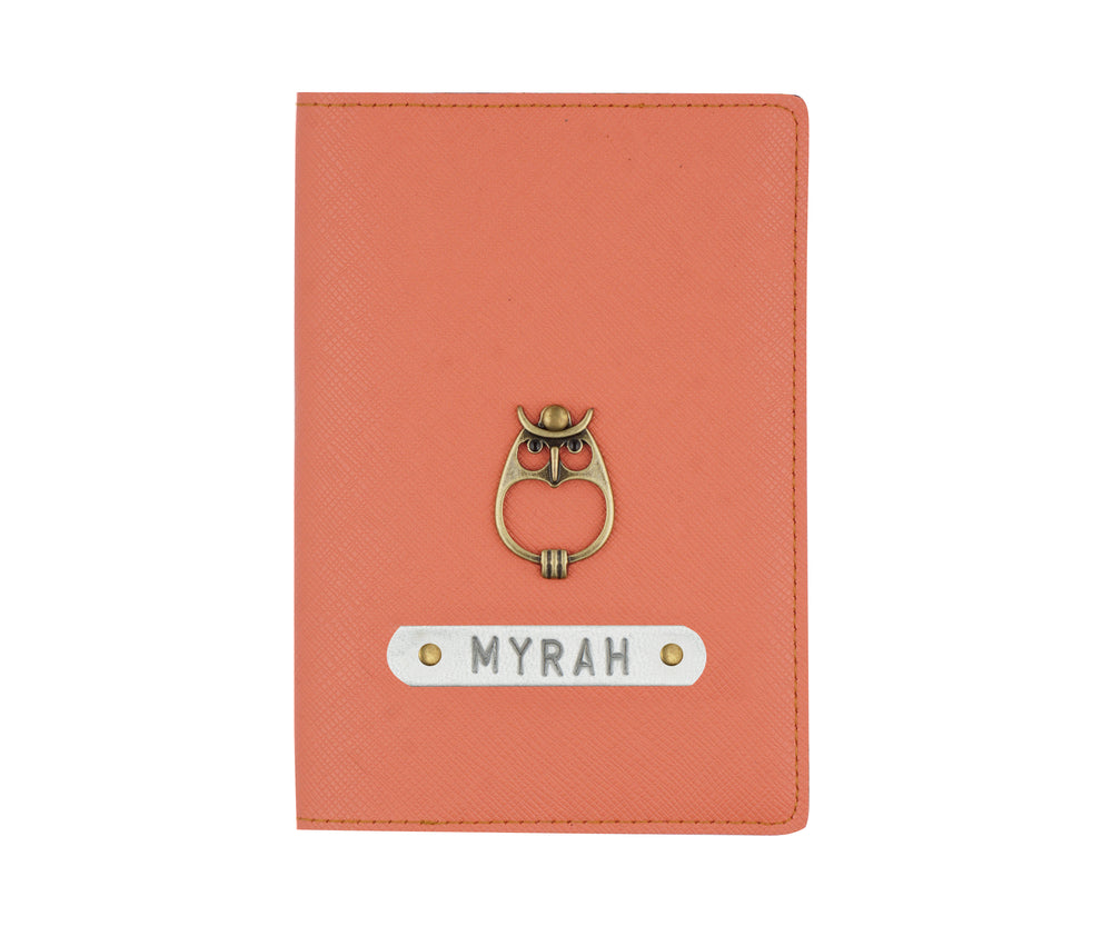 Peach Textured Passport Cover
