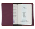 Purple Textured Passport Cover - The Junket