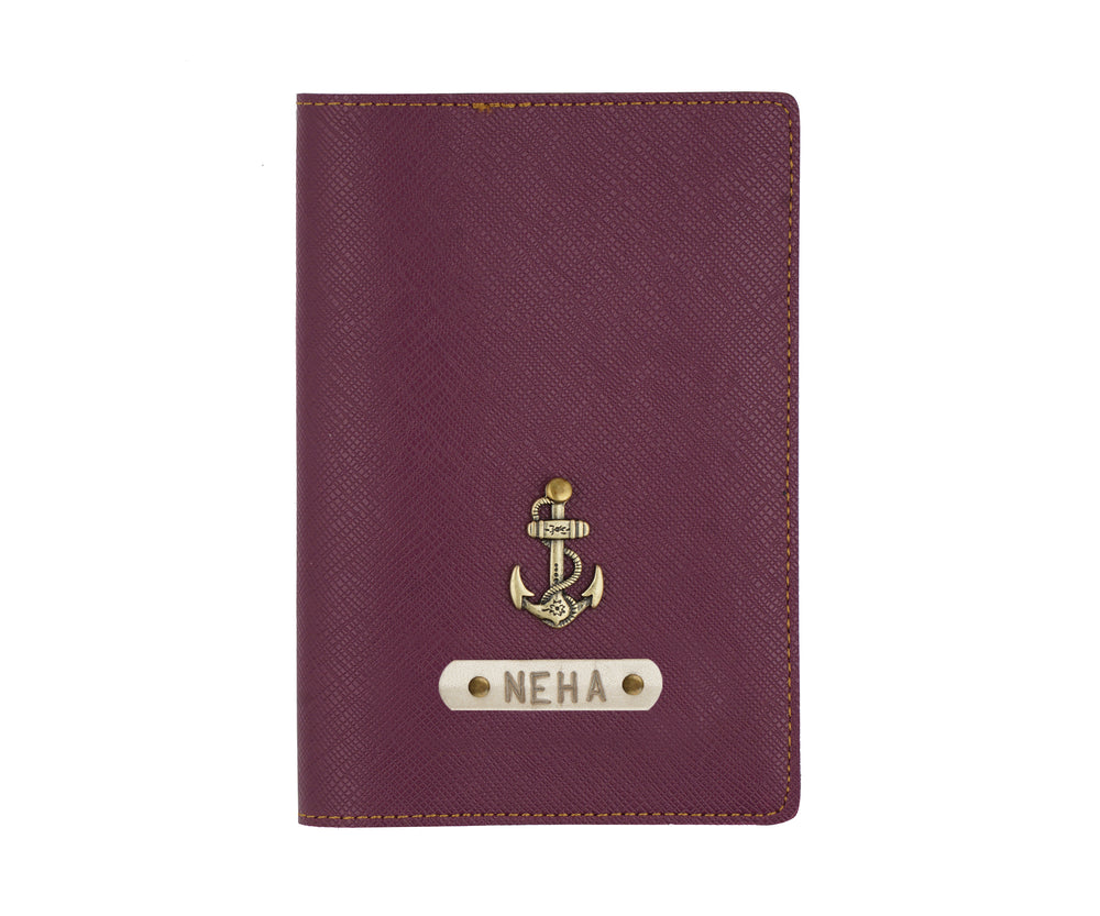 Purple Textured Passport Cover