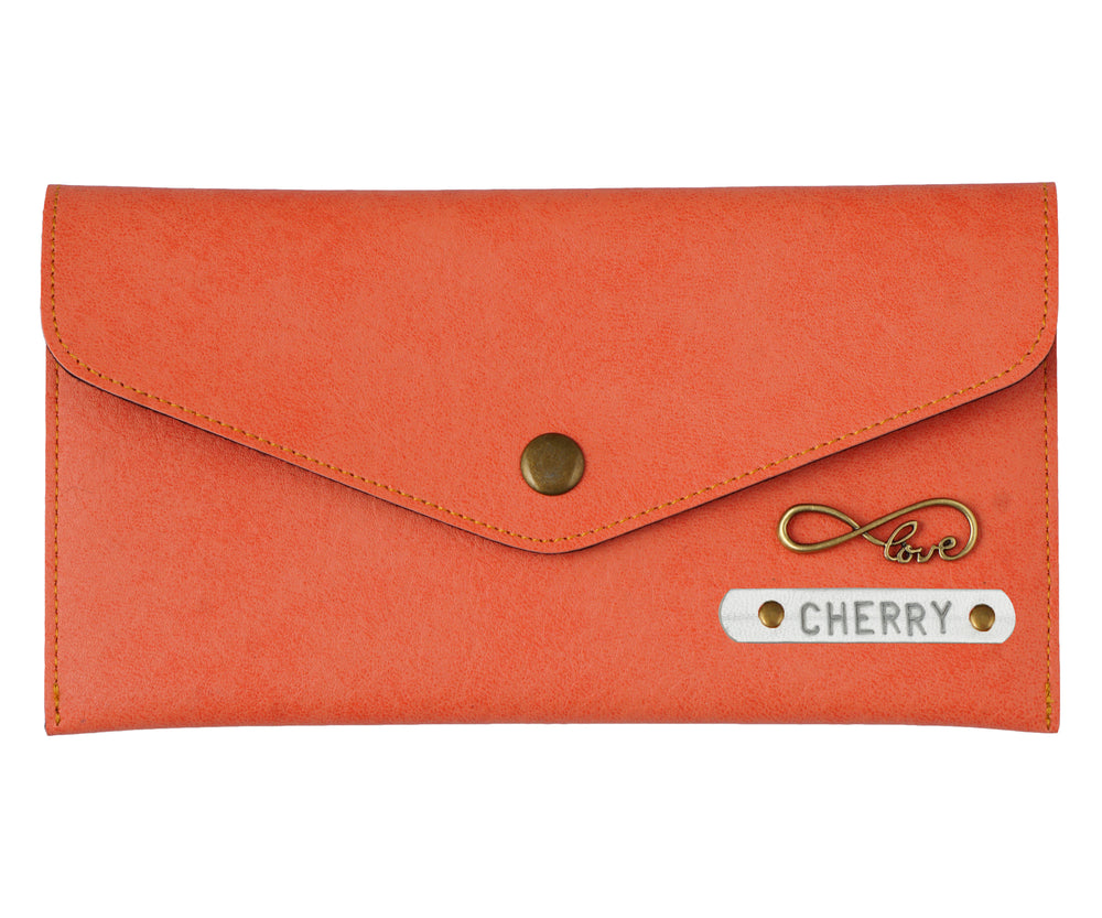 Peach Button Purse