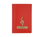 Red Textured Passport Cover