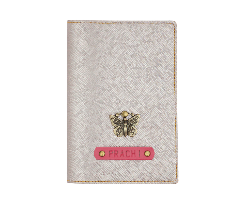 Rose Gold Textured Passport Cover