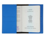 Royal Blue Textured Passport Cover - The Junket