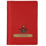 Red Leather Finish Passport Cover