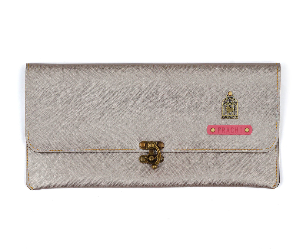 Rose Gold Clutch Bag - The Junket