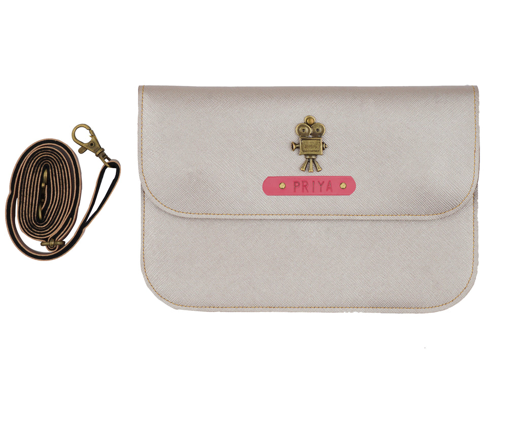 Rose Gold Sling Bag - The Junket
