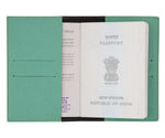 Sea Green Textured Passport Cover - The Junket