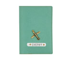 Sea Green Textured Passport Cover
