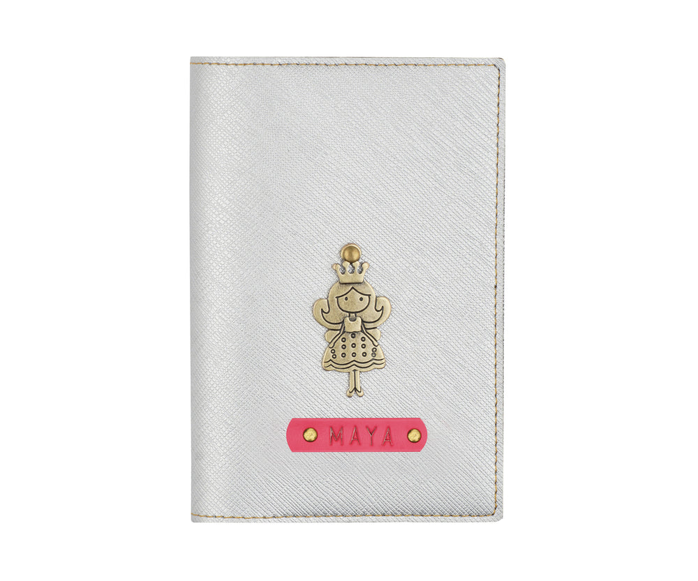 Silver Textured Passport Cover - The Junket