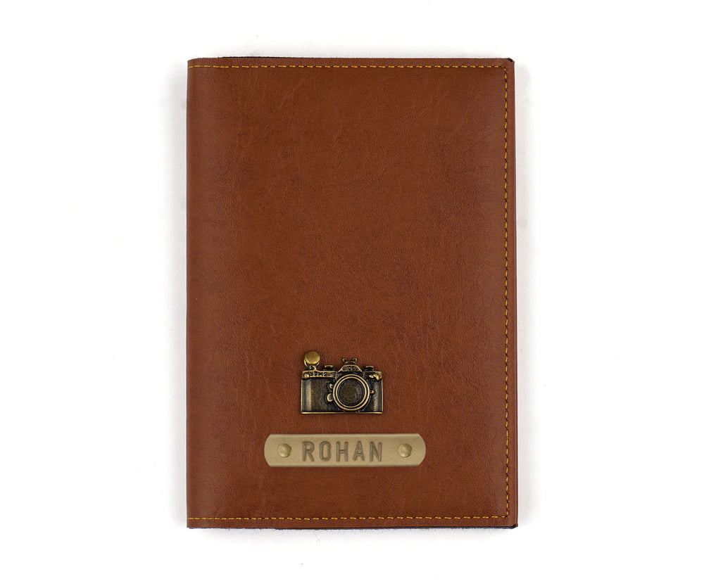 Tan Frequent Flyer Passport Cover