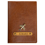 Tan Leather Finish Passport Cover