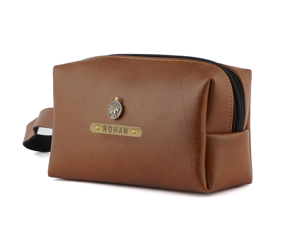 Tan Accessories Pouch - The Junket