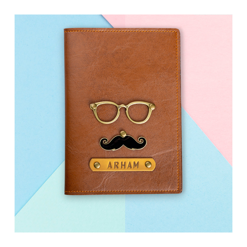 Moustache Passport Cover