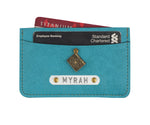 Turquoise Card Holder - The Junket