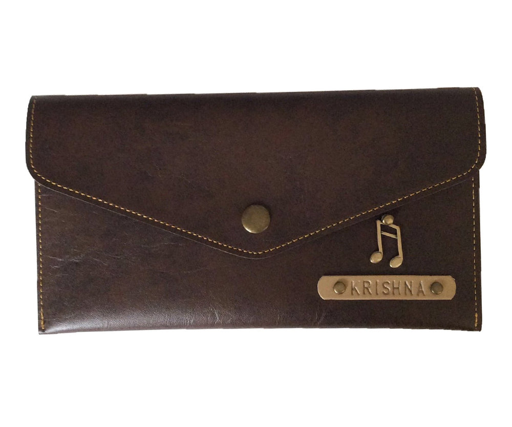 Dark Brown Button Purse