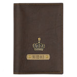 Dark Brown Leather Finish Passport Cover
