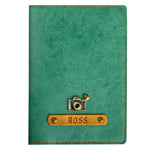 Personalized Emerald Green Leather Finish Passport Cover