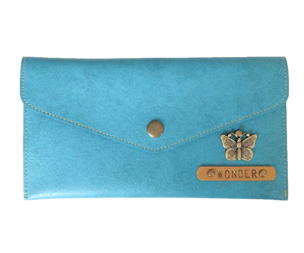 Turquoise Button Purse