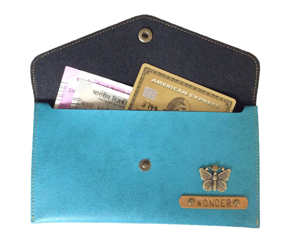 Turquoise Button Purse - The Junket