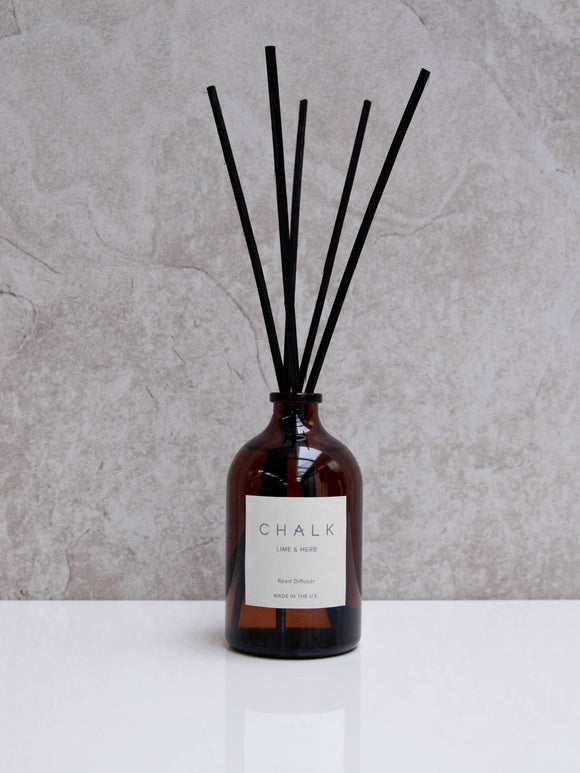 Chalk 100ml Amber Glass Diffuser | Various Scents