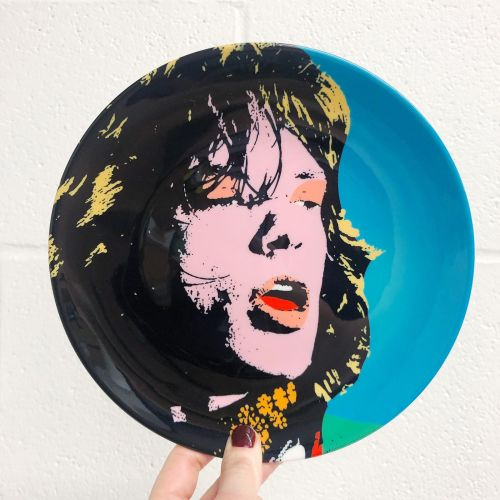 Art Wow Plate Mick Jagger