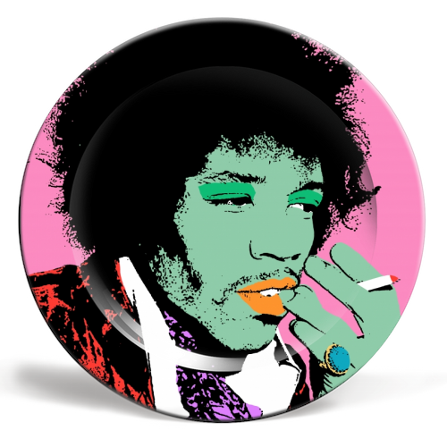Art Wow Plate Jimi Hendricks