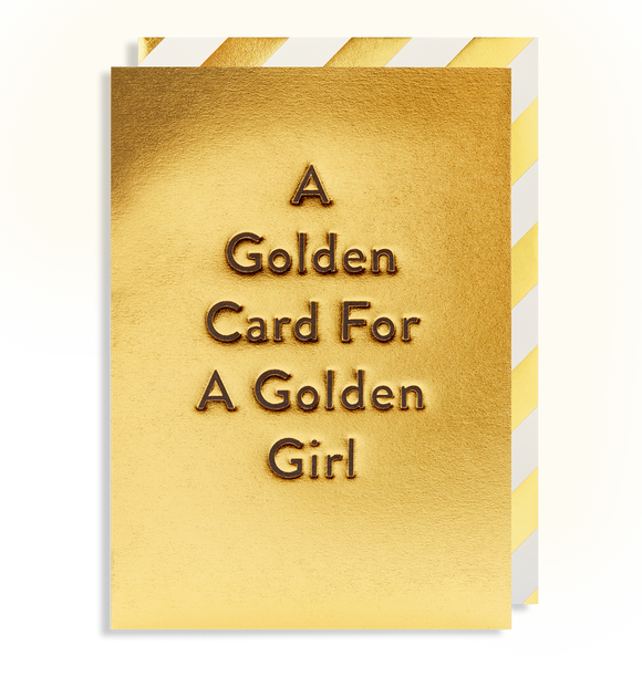 A Golden Card for a Golden Girl