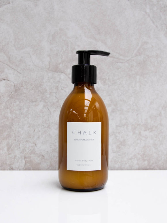 Chalk 250ml Amber Glass Hand and Body Lotion | Various Scents