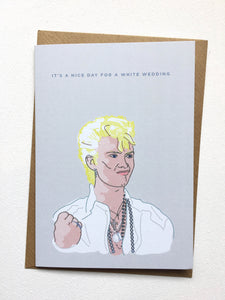Billy Idol It's a Nice Day for a White Wedding Card