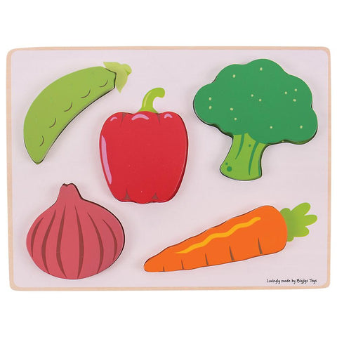 Bigjigs Lift and See Puzzle (Vegetables)