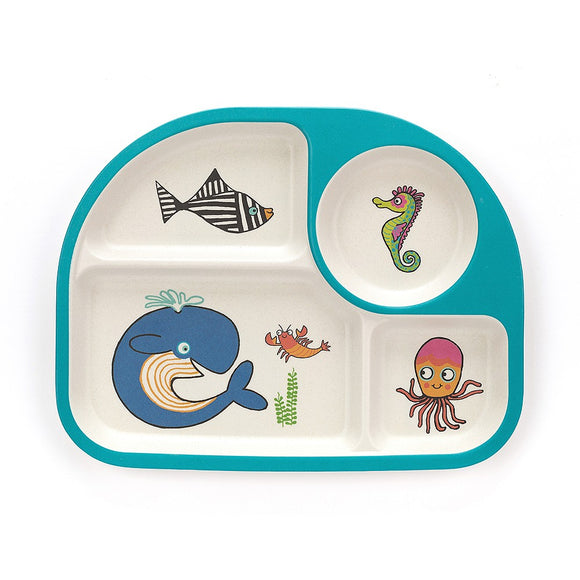 Jellycat Sea Tails Bamboo Divided Plate