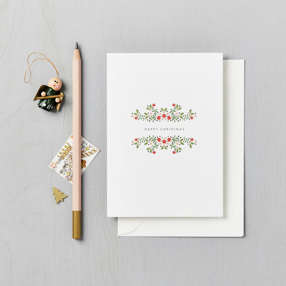 Floral Folk Charity Christmas Cards 6 Pack