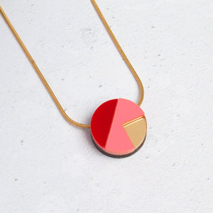 Natalie Lea Owen Matilda Necklace in Pink and Red