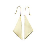 Geometric Brass Offset Triangle Earrings