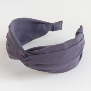 Grey Lilac Wide Twist Hairband