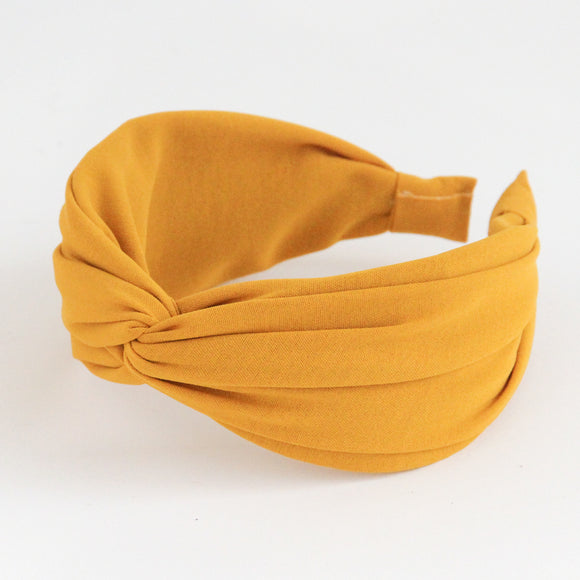 Yellow Wide Twist Hairband