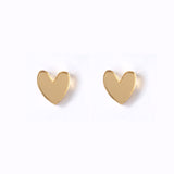 Natalie Lea Owen Gold Heart Earrings