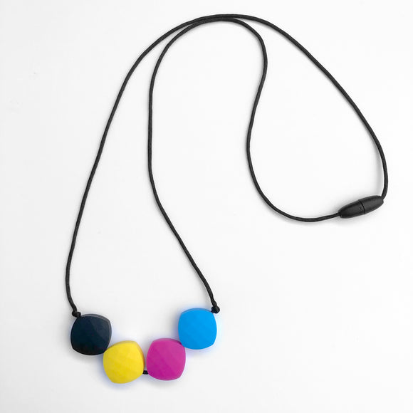 Quadrate Bead Teething Necklace