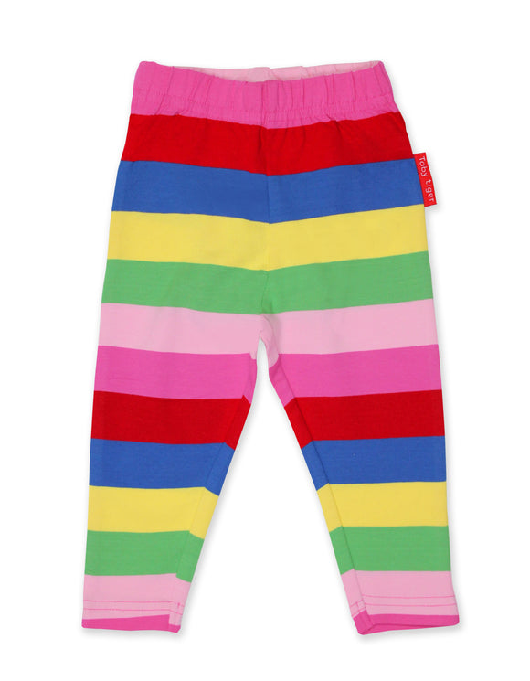 Toby Tiger Organic Pink Multi Stripe Leggings