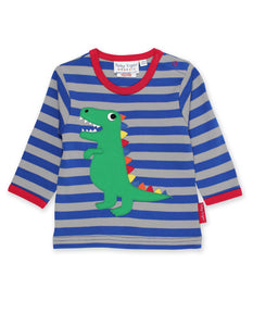 Toby Tiger Organic Trex Applique T-Shirt