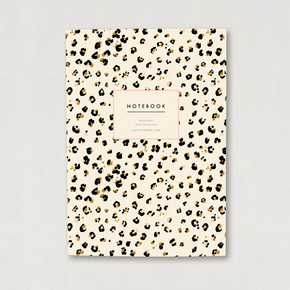 A5 Lined Notebook Cheetah Animal Print