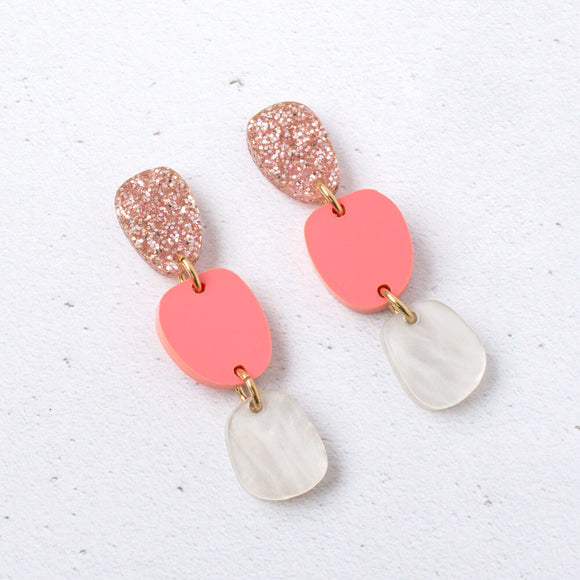 Natalie Lea Owen Lily Dangle Earrings in Gold
